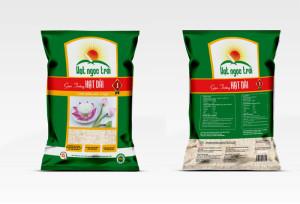 Thiết kế bao bì gạo Hạt Ngọc Trời